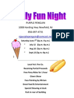 Purple Penguin Family Fun Night