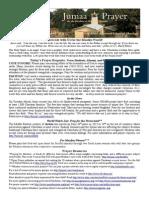 Jumaa Prayer Bulletin 13 June 2014