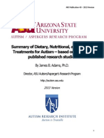 Summary of Treatments for Autism-2013