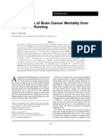 Reduced Risk of Brain Cancer Mortality
