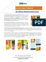 Espremedor de Citrinos Manual Perfect Juicer
