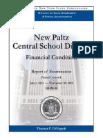 New Paltz Central School District Financial Condition