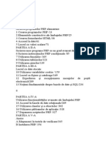 PHP cuprins