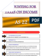 As 22 - Accounting for Taxes on Income