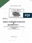 Fatkic, Mesihovic - Zbirka Resenih Zadataka Iz Matematike 1