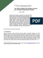 Effects of Parents' Work Conditions on Children's School