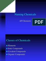 Naming Chemicals