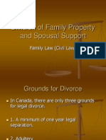 3  division of family property and spousal support
