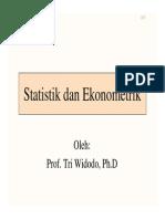 Statistik Dan Ekonometrik
