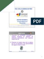 Conferencia Logistica en La Cadena de Frio Proexport 2013