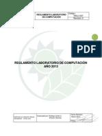 Reglamento Laboratorio Computacion-2014