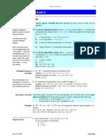 Résumé Algèbre I