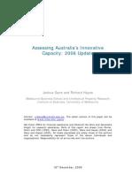 Assessing Australia's Innovative Capacity