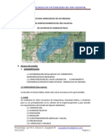 Estudio de Hidrología de Factibilidad Cacaotal 30112013