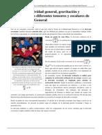 Curso de Relatividad General, Gravitación y Cosmología-Los Diferentes Tensores y Escalares de La Relatividad General