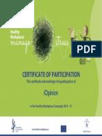iOpinion EU - Certificate