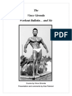 The Vince Gironda Workout Bulletin