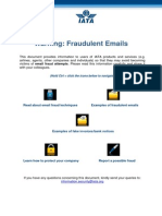 Fraudulent Emails Warning