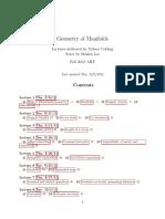 Riemannian Geo Notes MIT