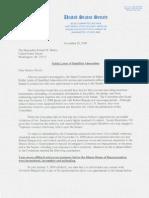 United States Senate Select Committee on Ethics Admonishment of Senator Burris (D-IL)
