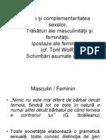 Feminitate și masculinitate
