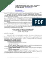 Estructura Del Sistema Educativo Venezolano Segun Nueva Ley Organica Educacion