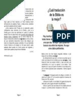Cual Biblia Usar por Yosef Alvarez
