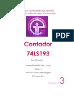 Práctica No.3 Contador 74LS193
