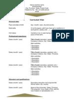Job Application CV - Curriculum Vitae - Resume