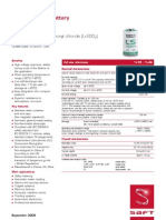 Datasheet LS14250 Lithium Batery (Li-SOCl2)