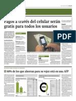 Pagos Vía Celular Serán Gratis Para Usuarios_Gestión 12-06-2014