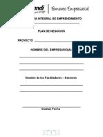 Formato Plan de Negocios (Vacio)
