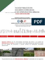 Espacios Públicos en barrios desfavorecidos
