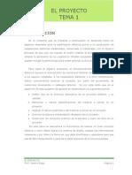 Tema I El Proyecto-ykro