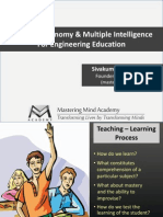 Bloom's Taxonomy & Multiple Intelligence for Engineering Education