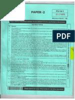 JEE Advanced 2014 Paper 2 Code 1 English