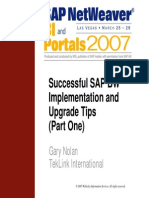Successful SAP BW Implementation and Upgrade Tips Part One - V.2 (1)