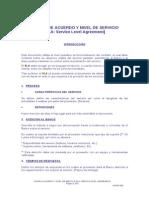 Modelo de Acuerdo y Nivel de Servicio_sla Service Level Agreement General
