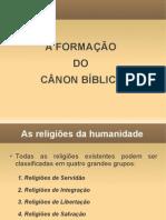 1) a Formação Do Cânon Bíblico