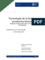 Curso Tecnologia Leche y Productos Lacteos2013