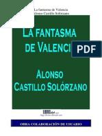 Alonso de Castillo Solórzano - La Fantasma de Valência