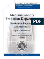 State audit of Madison County (NY) Probation Department