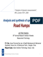 Analysis and synthesis of speed limiting Road Humps