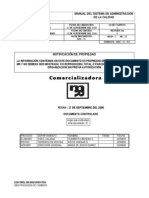 Manual de Calidad Comercializadora Mr