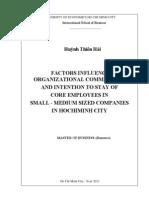 Factors Influencing Employee Commitment