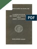 Marrou-L'Ambivalence Du Temps de l'Histoire Chez Saint Augustin