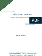 Proiect masurarea debitului