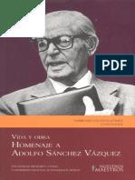 ASV Homenaje a Adolfo Sanchez Vazquez 2009