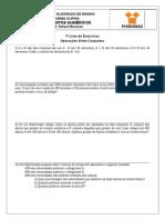 1ª Lista de Exercícios - Operações Entre Conjuntos