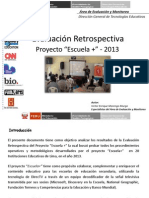 Análisis de la evaluación Retrospectiva Proyecto Escuela + 3
